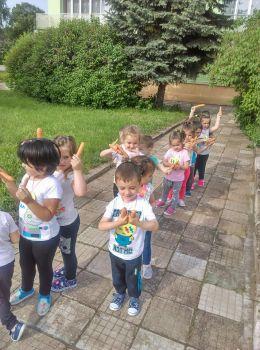 """Открита практика в група,,Бонбони""""Тема:По-пътечката на Зайко"""" - ДГ Слънце - Радомир"""