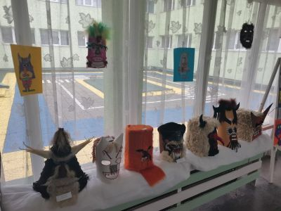 """Изложба на кукерски маски-,,Сурва 2021"""" - ДГ Слънце - Радомир"""